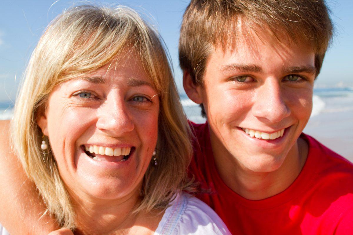 Teen Boys And Mom
